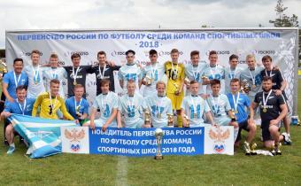 Награждение победителей первенства России по футболу