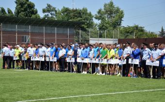 Парад и награждение участников чемпионата по мини-футболу среди территориальных органов МВД России.