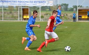 На полях «Гиганта» прошли матчи первого тура финального турнира Первенства России по футболу среди спортшкол (игроки 2003 года рождения).