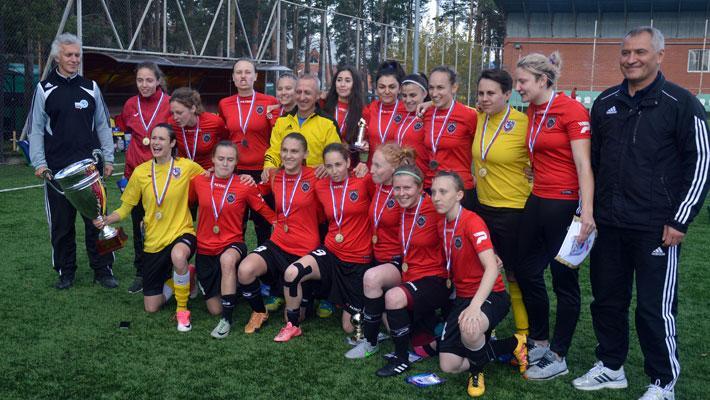 Торжественное закрытие первенства России по футболу среди женских команд